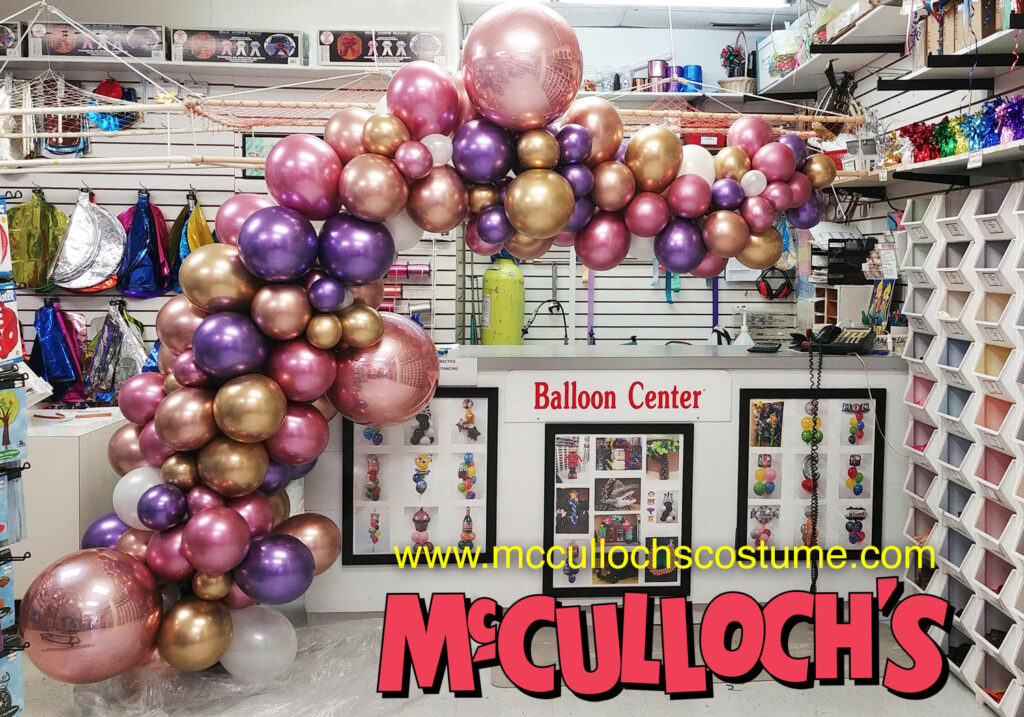 Chrome Balloon Organic Arch