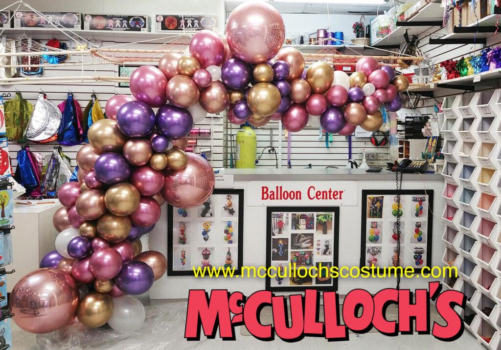 Chrome Balloon Organic Arch