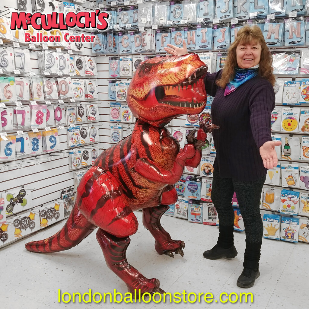 Large Dinosaur Balloon in London Ontario