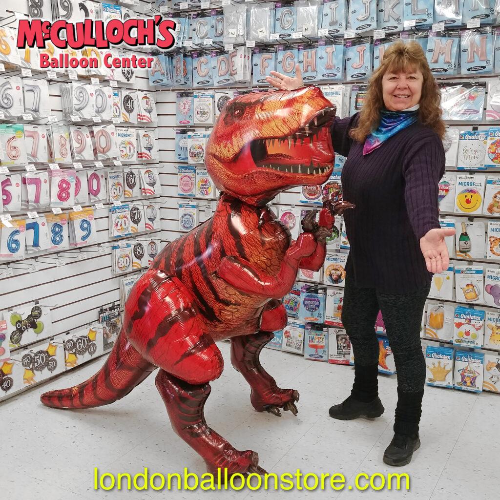 Large Dinosaur Balloon in London Ontario