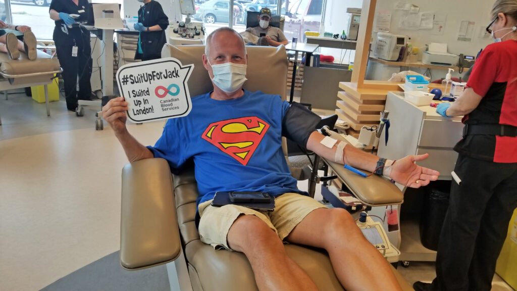 Suit Up for Jack Blood Donor Campaign