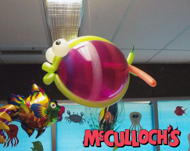 Decorative Balloon Sculpture of Fish